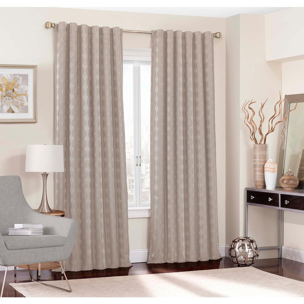 Adalyn Blackout Window Curtain Panel in String - 52 in. W x 108 in. L