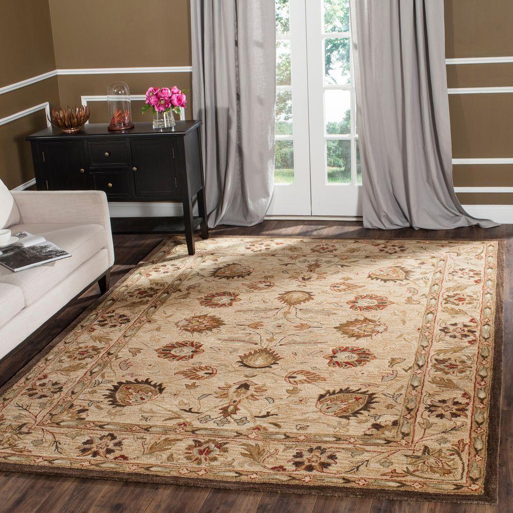 safavieh antiquity beige 8 ft 3 in x 11 ft area rug. Black Bedroom Furniture Sets. Home Design Ideas