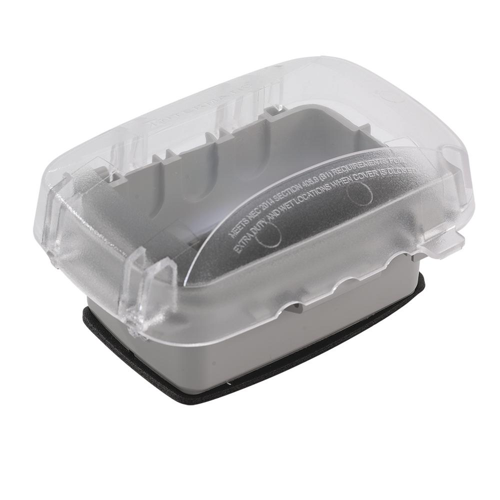 Clear Intermatic WP3103C Outdoor 1 Gang Round Box