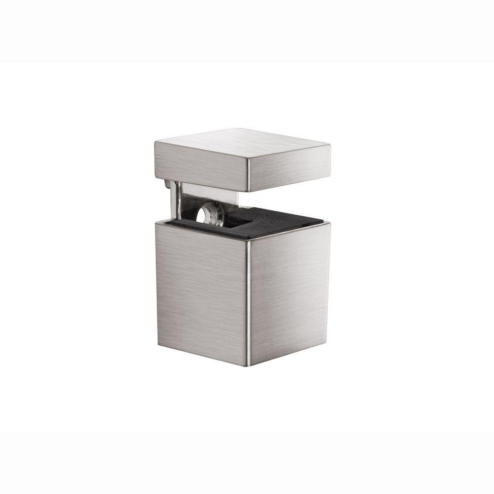 Dolle BLOC 3/16 in. - 3/4 in. Adjustable Shelf Bracket in Stainless Steel
