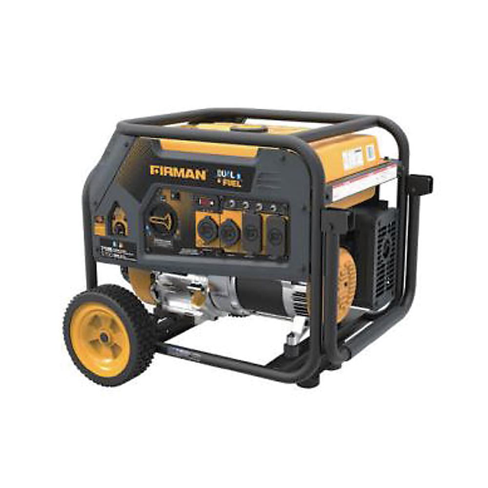 5700-Watt Hybrid Dual Fuel Propane/Gas Powered Portable Generator with Recoil
