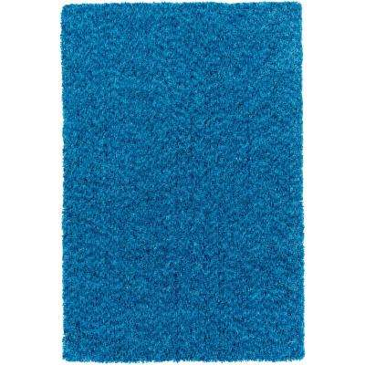 Charlie Bright Blue 8 Ft X 10 Indoor Area Rug