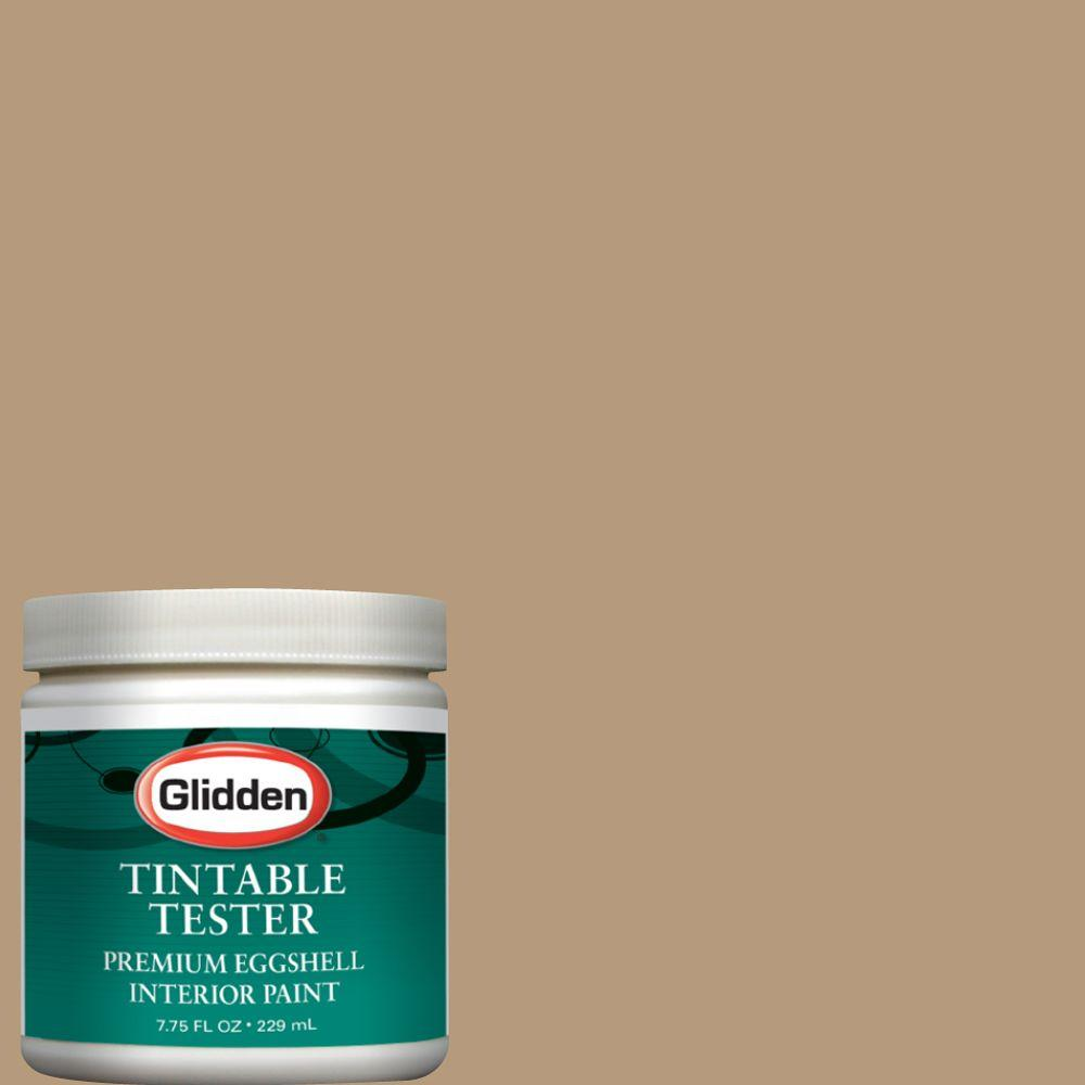 Glidden Premium 8 Oz Gln01 Warm Caramel Interior Paint Sample Gln01 D8 The Home Depot