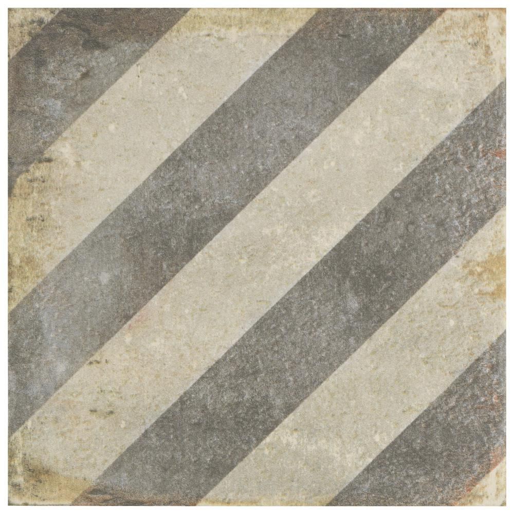 D'Anticatto Decor Obliqua 8-3/4 in. x 8-3/4 in. Porcelain Floor and