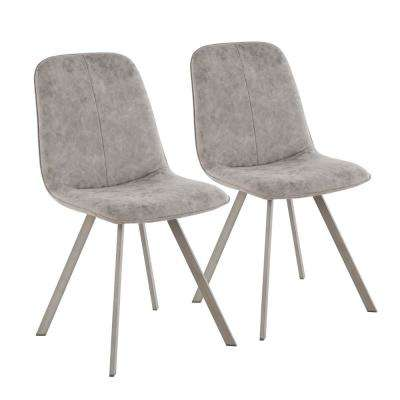 Sedona Antique Metal and Grey Fabric Dining/Accent Chair (Set of 2)