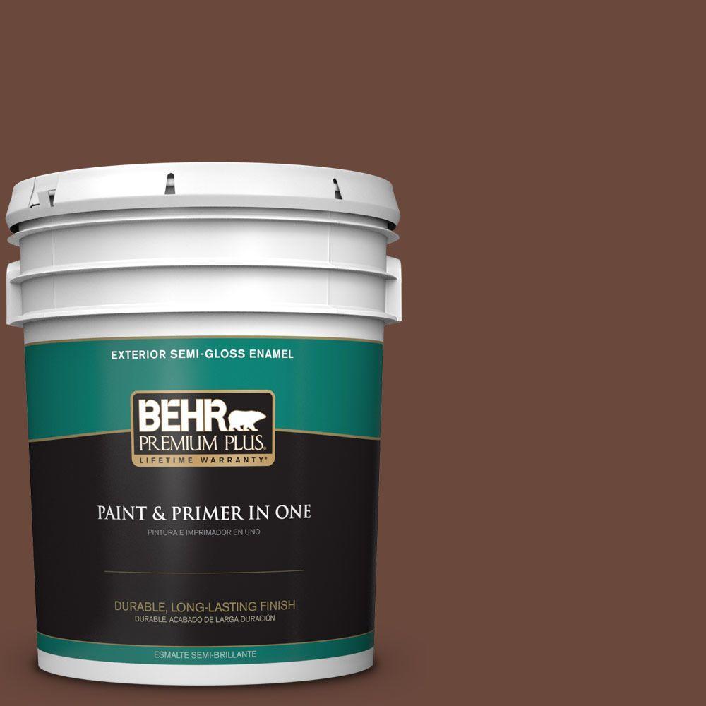 5-gal. #BXC-45 Classic Brown Semi-Gloss Enamel Exterior Paint