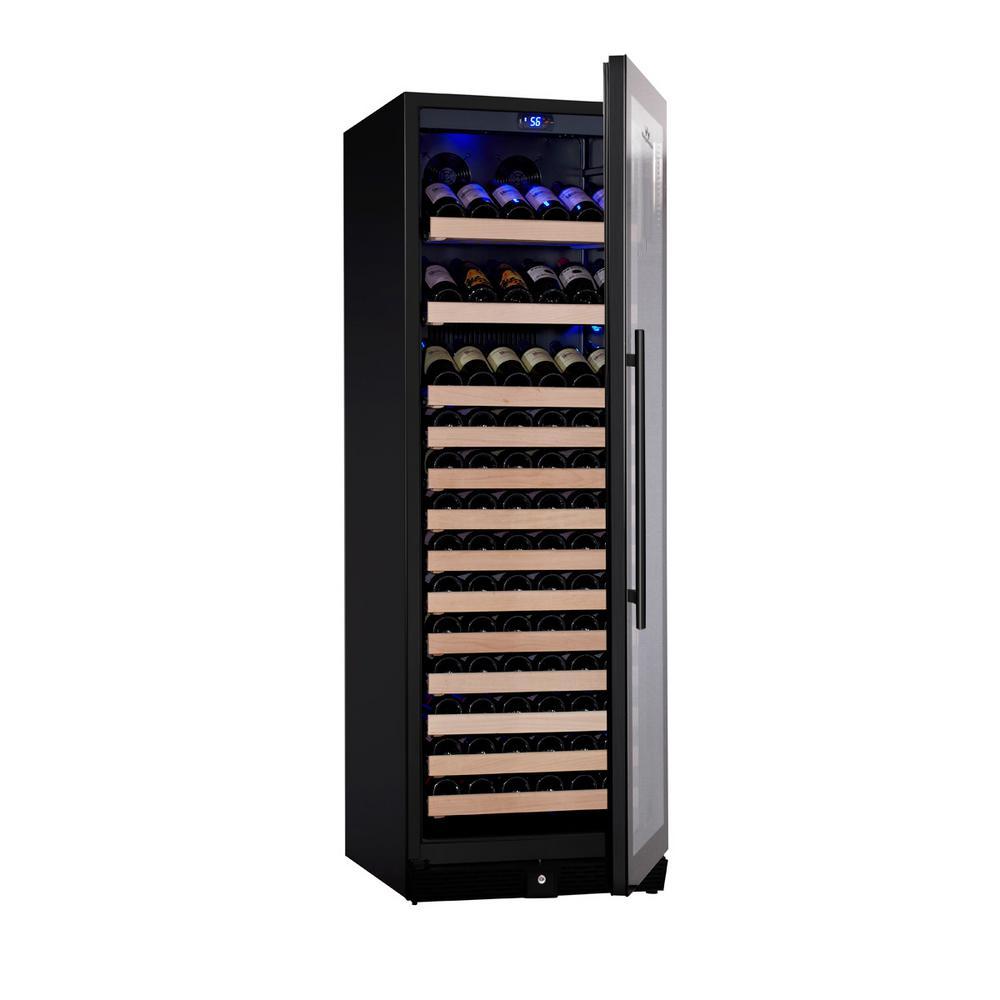 Single Zone 23.42 in. 131-Bottle Convertible Wine Cooler in Black