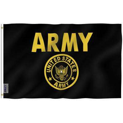 Fly Breeze 3 ft. x 5 ft. Polyester US Army Crest Flag 2-Sided Flag Banner with Brass Grommets and Canvas Header