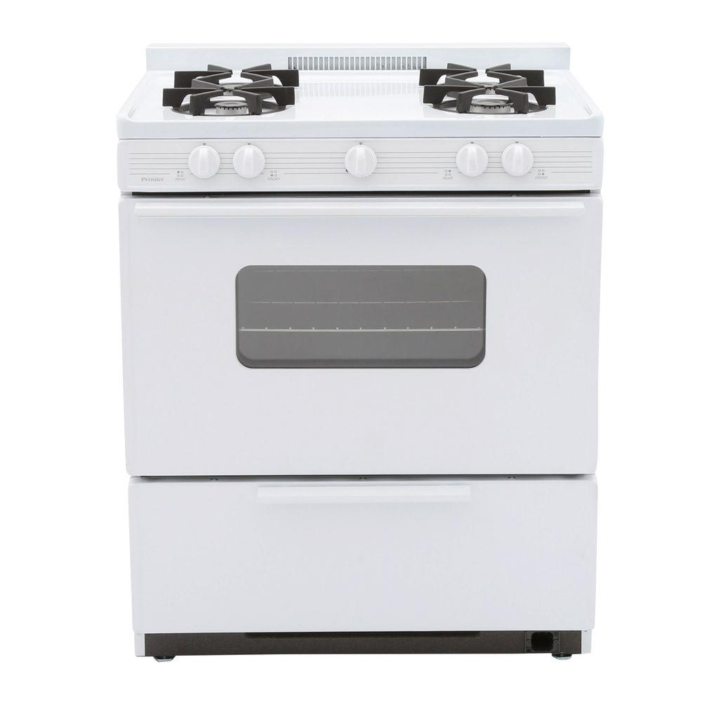 30 in. 3.91 cu. ft. Freestanding Battery Spark Ignition Gas Range