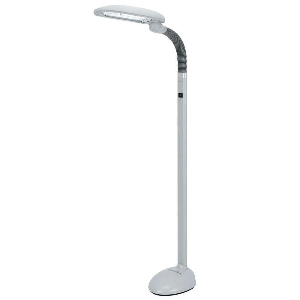 SPT EasyEye 48 in. 2 Tube Bulb White Floor Lamp with Ionizer-SL-812 ...