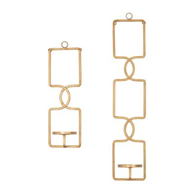 Home Decorators Collection Gold Metal Wall Sconce Candle Holder (Set of 2)
