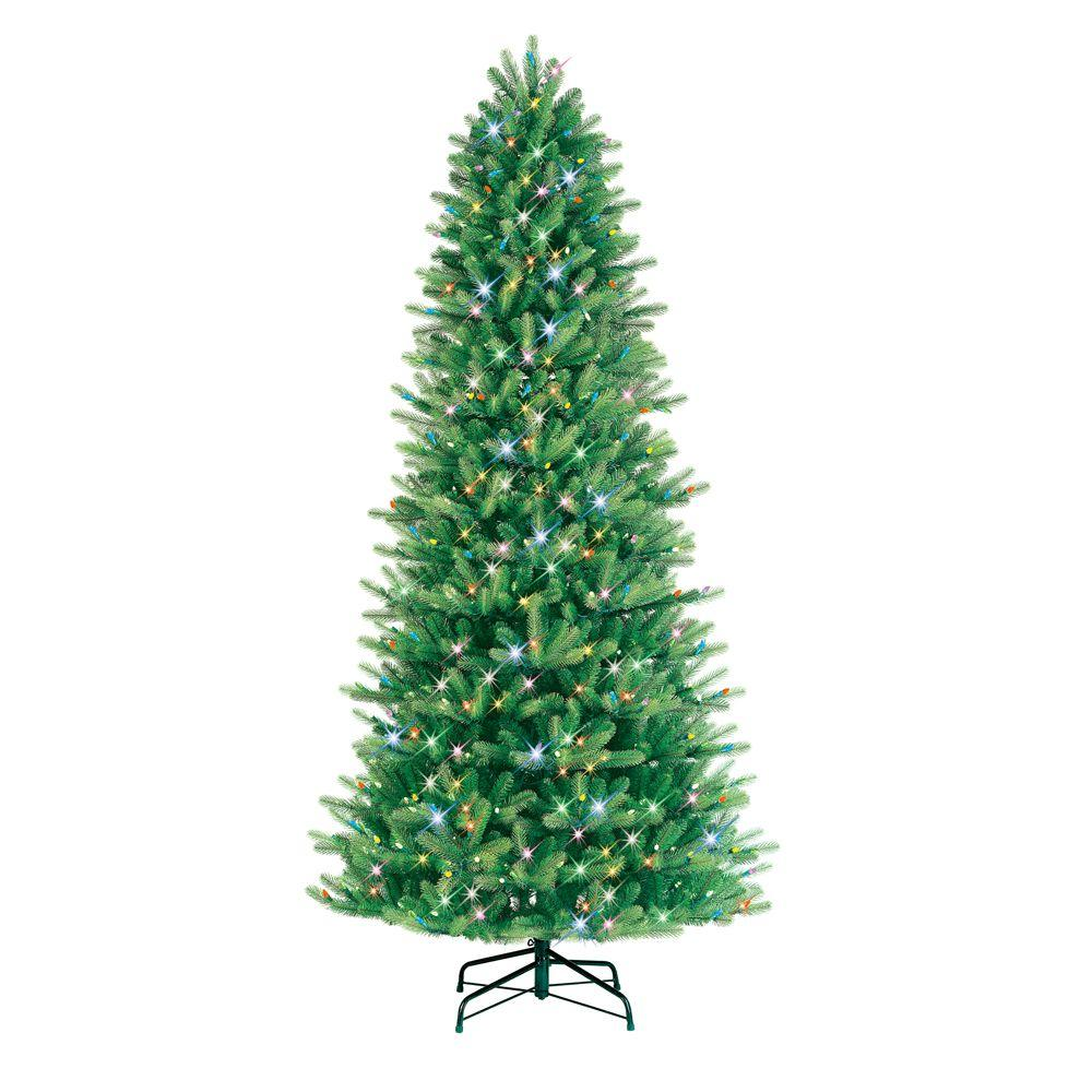 GE 9 ft. Pre-Lit LED Just Cut Black Hills Fir Artificial Christmas Tree with Multi-Color Lights