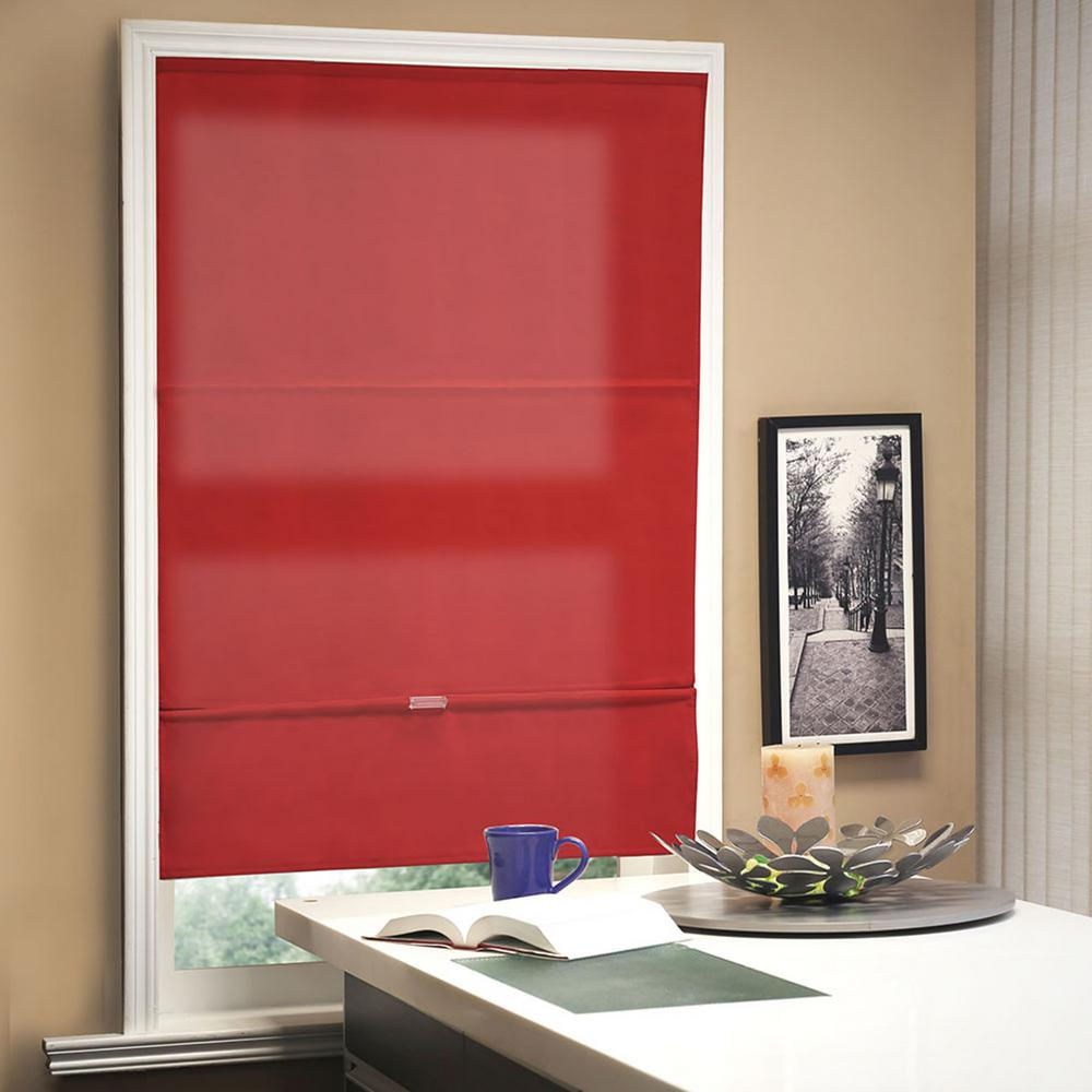 36 in. W x 64 in. L Allure Crimson Light Filtering