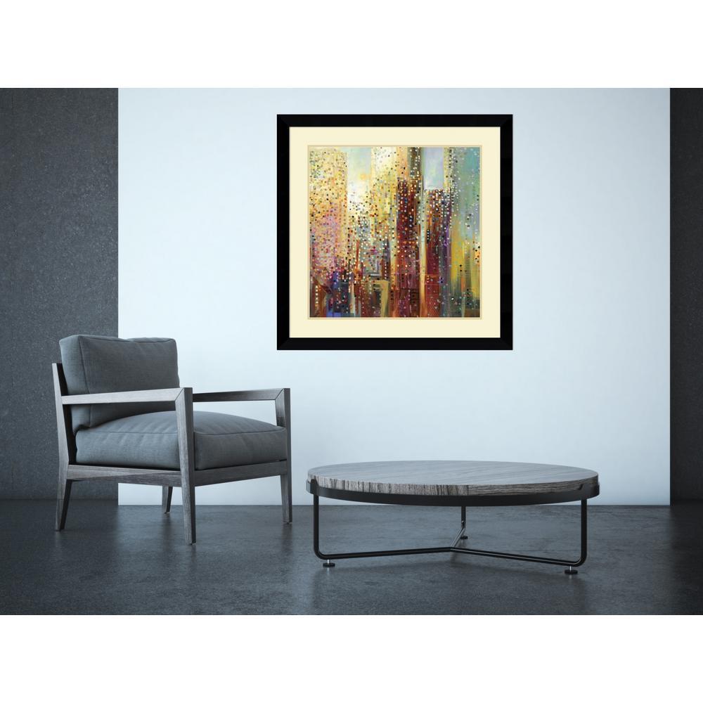"""Amanti Art 33 in. W x 33 in. H """"City Daybreak"""" by Ekateri..."""