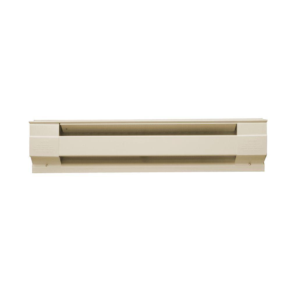 24 in. 350-Watt 240/208-Volt Electric Baseboard Heater in Almond
