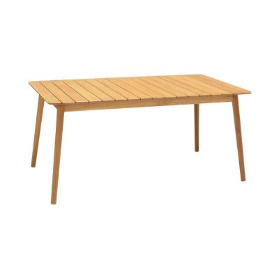 Nassau Outdoor Rectangle Dining Table in Natural Wood Finish