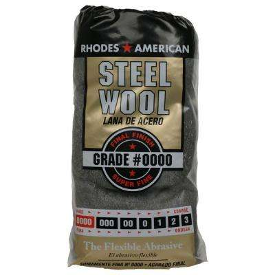 #4/0 12 Pad Steel Wool, Super Fine Grade