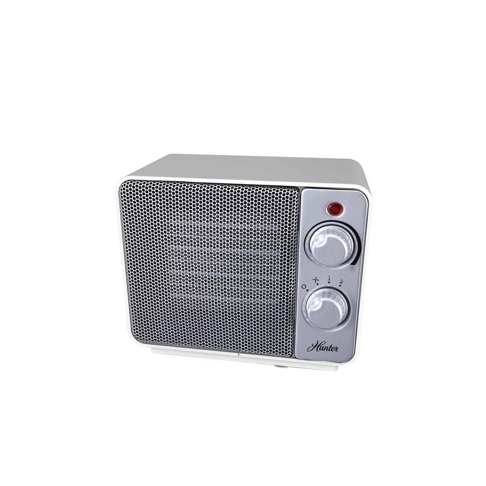 1500-Watt Ceramic Retro Electric Portable Heater - White
