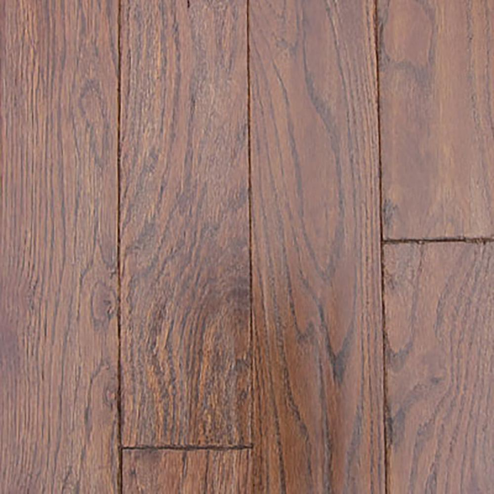 Oak Molasses Hand Sculpted Solid Hardwood Flooring - 5 in. x