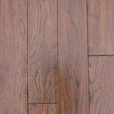 Oak Molasses Hand Sculpted Solid Hardwood Flooring - 5 in. x 7 in. Take Home Sample