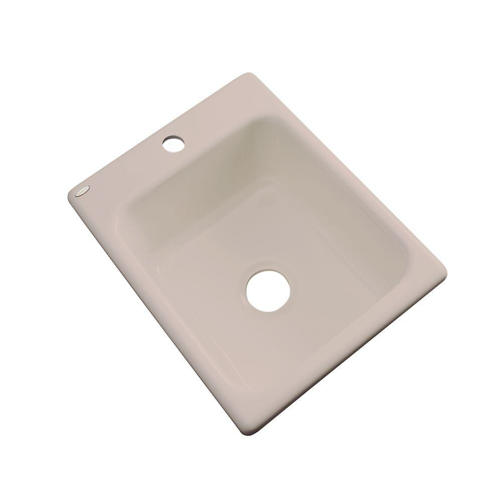 Thermocast Crisfield Drop-In Acrylic 17 in. 1-Hole Single Bowl Entertainment Sink in Fawn Beige
