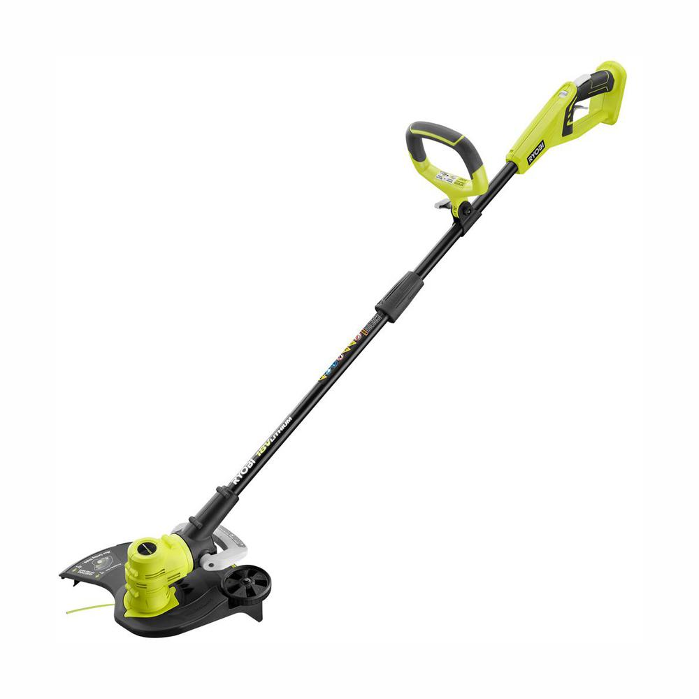 RYOBI ONE+ 18-Volt Lithium-Ion Cordless Battery Electric String Trimmer/Edger (Tool Only)