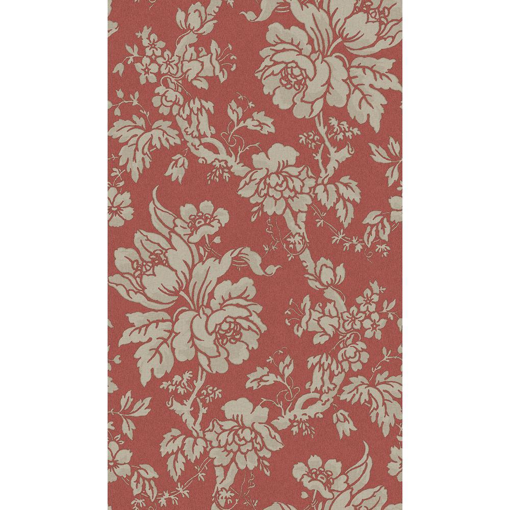 Yara Red Floral Wallpaper Sample