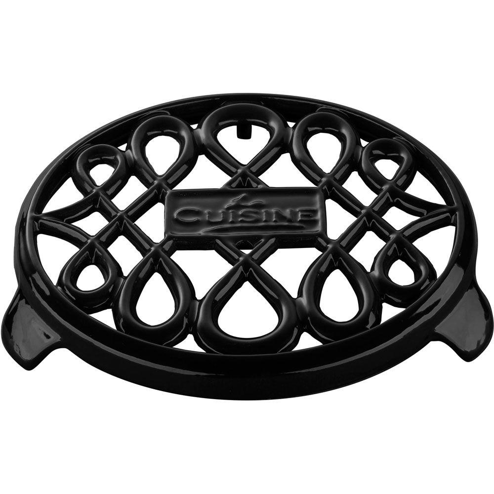 Cast Iron Non-slip Black Trivet