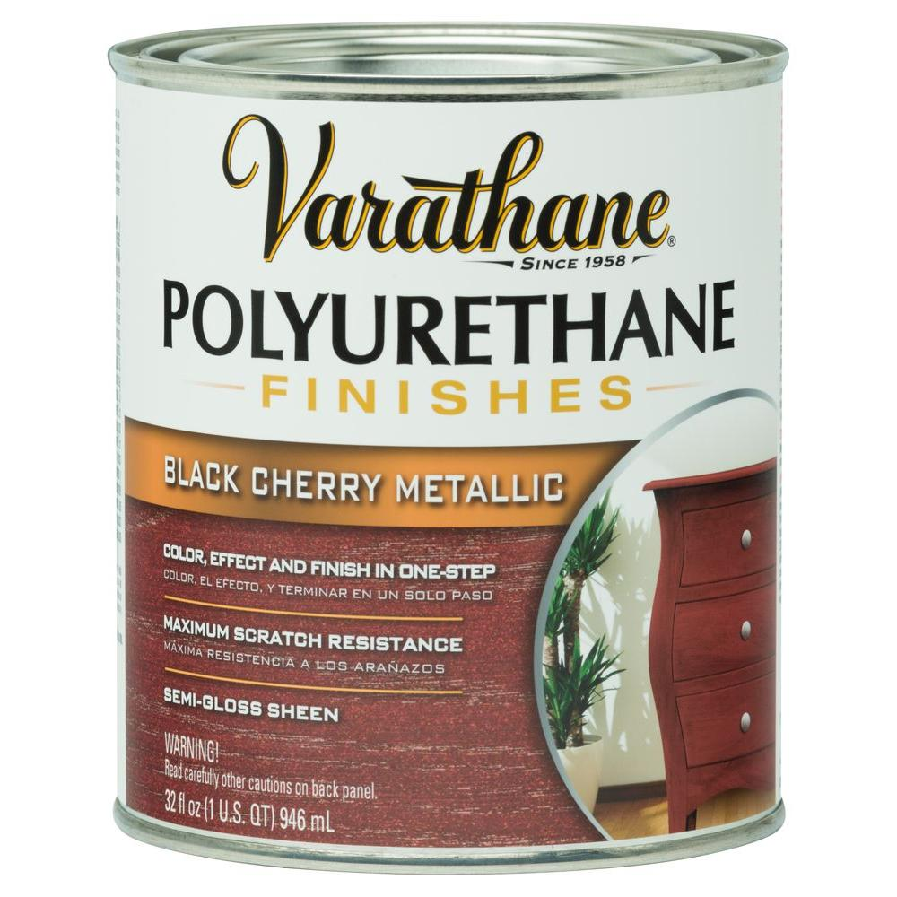 Varathane 1-qt.Black Cherry Metallic Polyurethane Finish (Case of ...