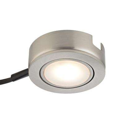 Tuxedo Swivel 1-Light LED Satin Nickel Under Cabinet Light with Power Cord and Plug