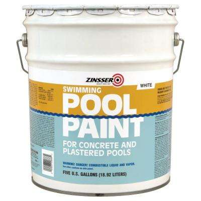 5 gal. White Flat Oil-Based Swimming Pool Paint