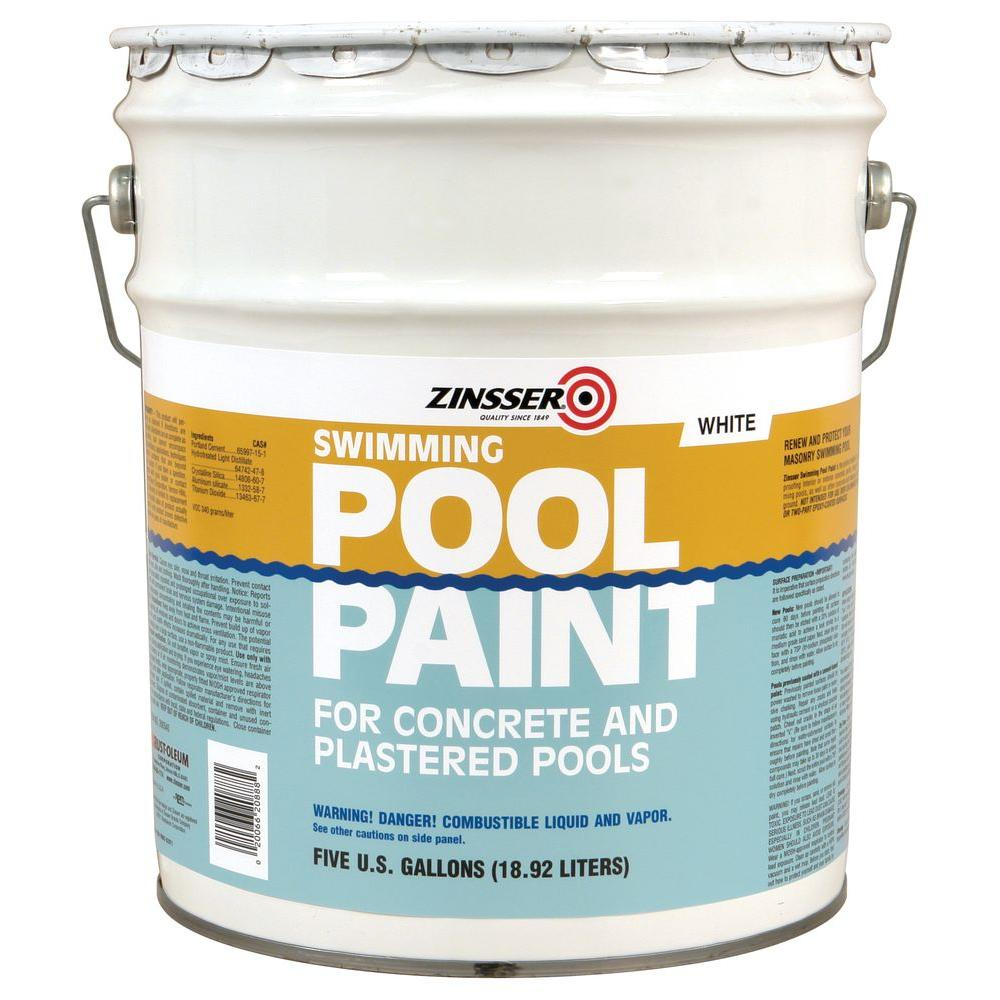 Zinsser 5 gal. White Flat Oil-Based Swimming Pool Paint