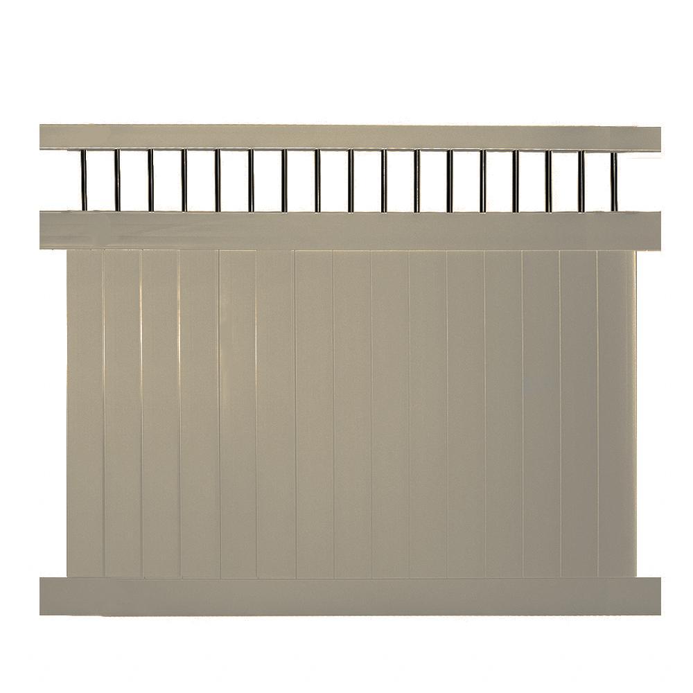 weatherables bradford 5 ft h x 6 ft w khaki vinyl. Black Bedroom Furniture Sets. Home Design Ideas