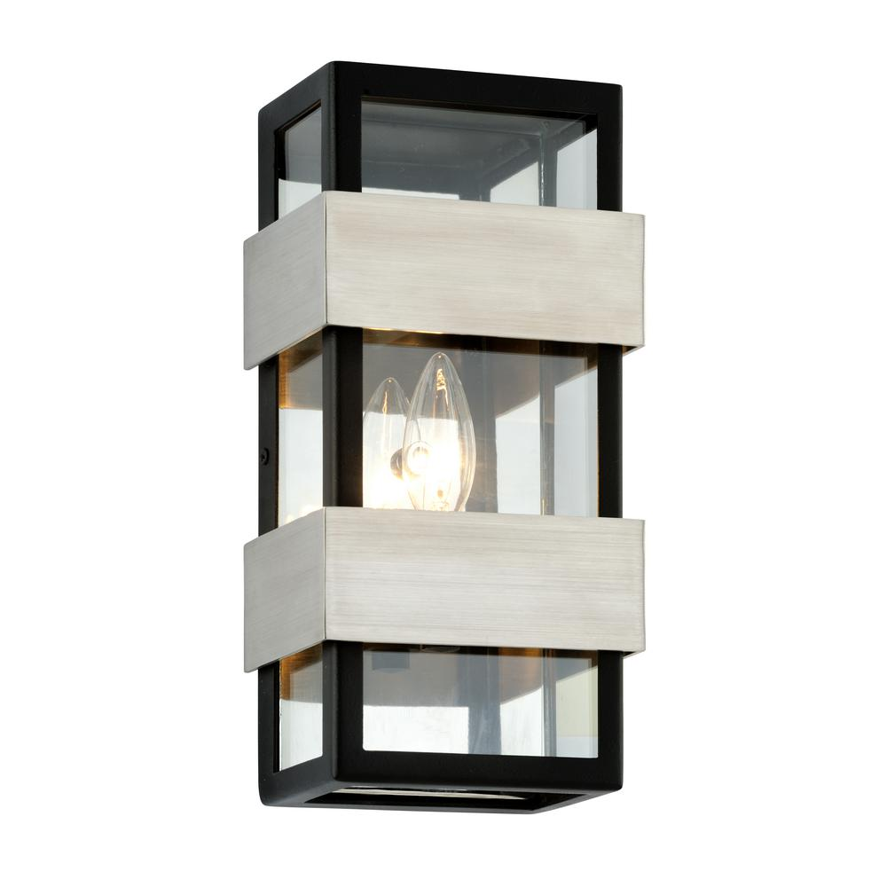 Troy Lighting Dana Point 1-Light Textured Black 12 in. H Outdoor Wall Mount  sc 1 st  Home Depot & Troy Lighting Dana Point 1-Light Textured Black 12 in. H Outdoor ...
