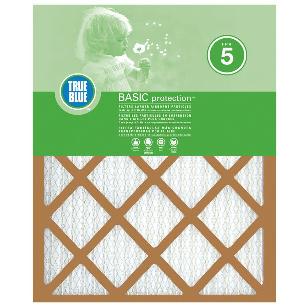 True Blue 18 in  x 30 in  x 1 in  Basic FPR 5 Pleated Air Filter