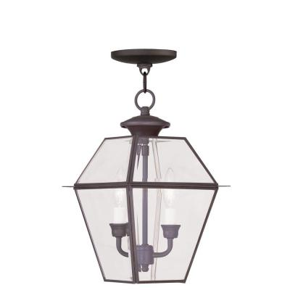 Providence 2-Light Bronze Outdoor Incandescent Hanging Lantern