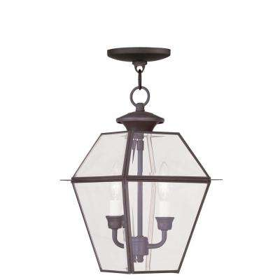 Providence 2-Light Bronze Outdoor Incandescent Hanging Lantern
