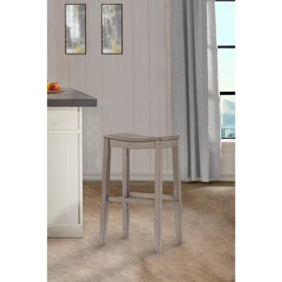 Fiddler Aged Gray Non Swivel Backless Counter Stool
