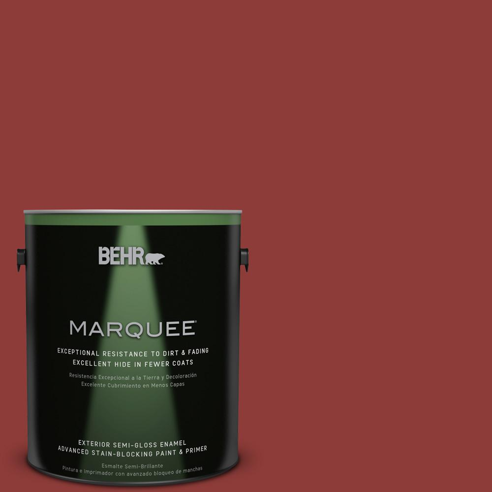 BEHR MARQUEE 1-gal. #180D-7 Roasted Pepper Semi-Gloss Enamel Exterior Paint