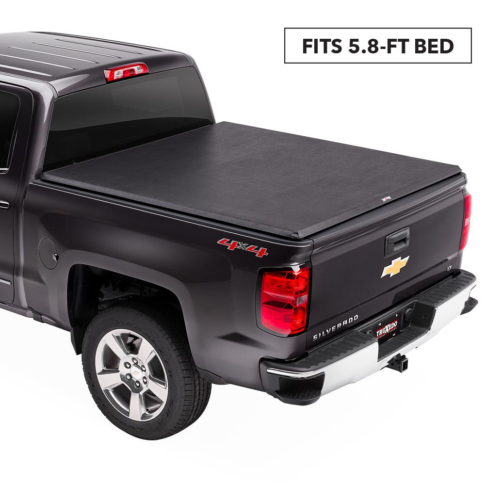 Soft Roll Up Tonneau Cover For 14 18 Chevy Gmc Silverado Sierra 5 Ft 8 In Bed Ppid Tabanankab Go Id