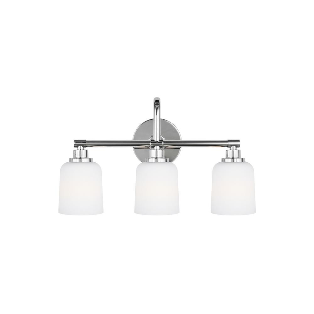 Hampton Bay 3 Light Chrome Bath Light 05660 The Home Depot