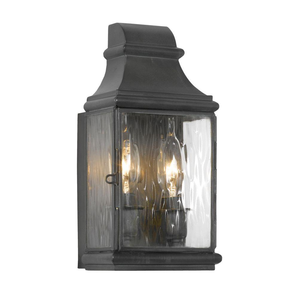 Barn Light Charcoal: Titan Lighting Jefferson 2-Light Wall Mount Outdoor