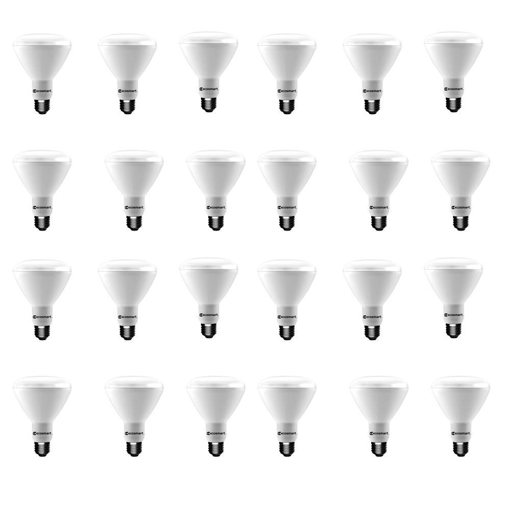 65-Watt Equivalent BR30 Dimmable LED Light Bulb Soft White (24-Pack)