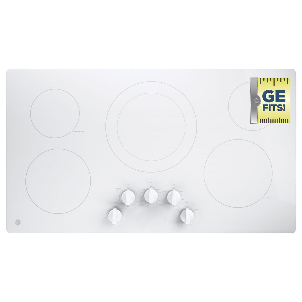 Electric Cooktop Built In Control White With 5 Elements