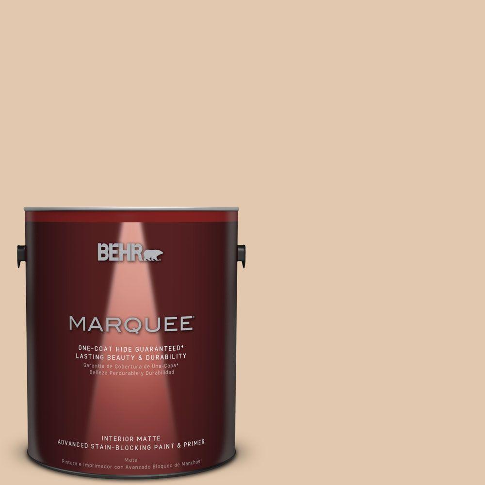 1 gal. #MQ2-8 Irish Cream Matte One-Coat Hide Interior Paint and
