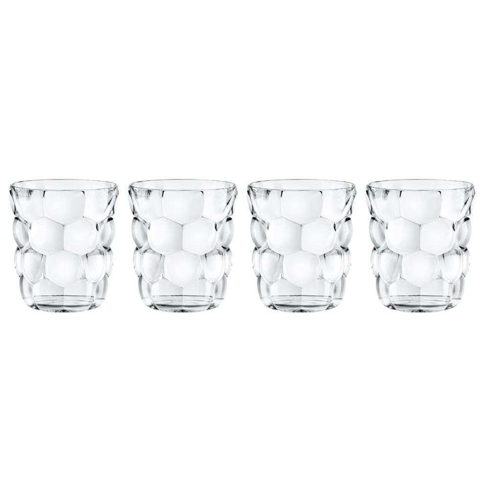Bubbles 11.1 oz. Glass Tumbler (4-Pack)