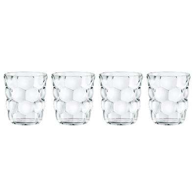 Bubbles 11.1 oz. Glass Tumbler (4-Pack)