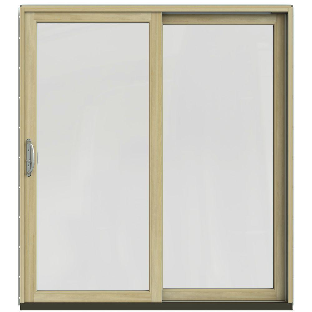 72 in. x 80 in. W-2500 Contemporary Brown Clad Wood Right-Hand