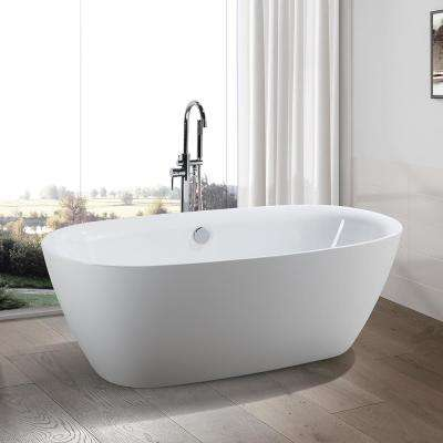 Lille 67 in. Acrylic Flatbottom Freestanding Bathtub in White