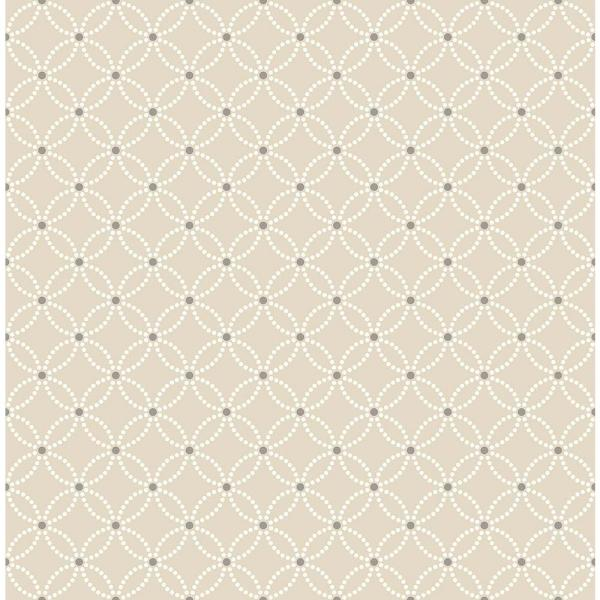 A-Street Kinetic Beige Geometric Floral Wallpaper 2625-21841